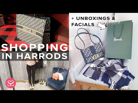 Luxury Shopping in Harrods, Getting a COSMETIC GRADE FACIAL & UNBOXINGS! | AD Includes Gifted items