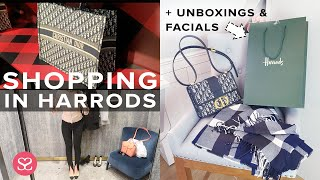 Luxury Shopping in Harrods, Getting a COSMETIC GRADE FACIAL & UNBOXINGS!   AD Includes Gifted items