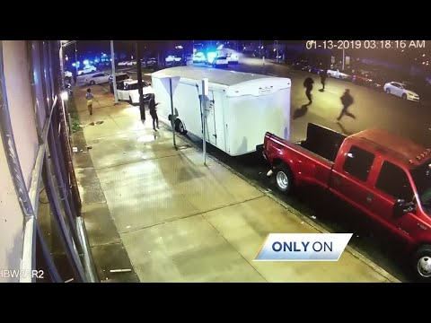 EXCLUSIVE:  Business security video shows fatal police shooting scene