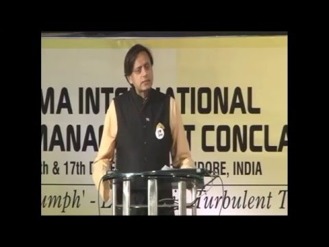 IMA International Management Conclave (2011) - Dr Shashi Tharoor (Indian politician)