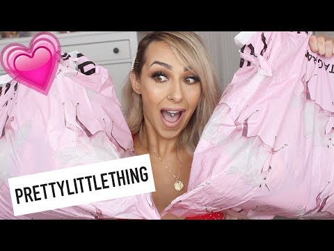 huge-£400-pretty-little-thing-haul- -summer-try-on