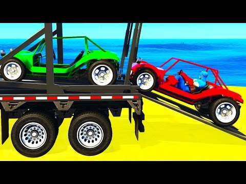 Thumbnail: FUNNY SMALL CARS Transportation and Spiderman Cartoon for Kids & Colors for Toddlers Nursery Rhymes