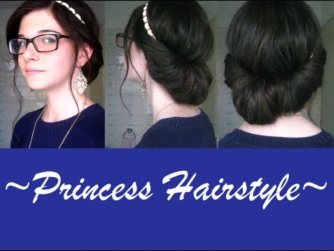 easy prom hair headband updo princess hairstyle