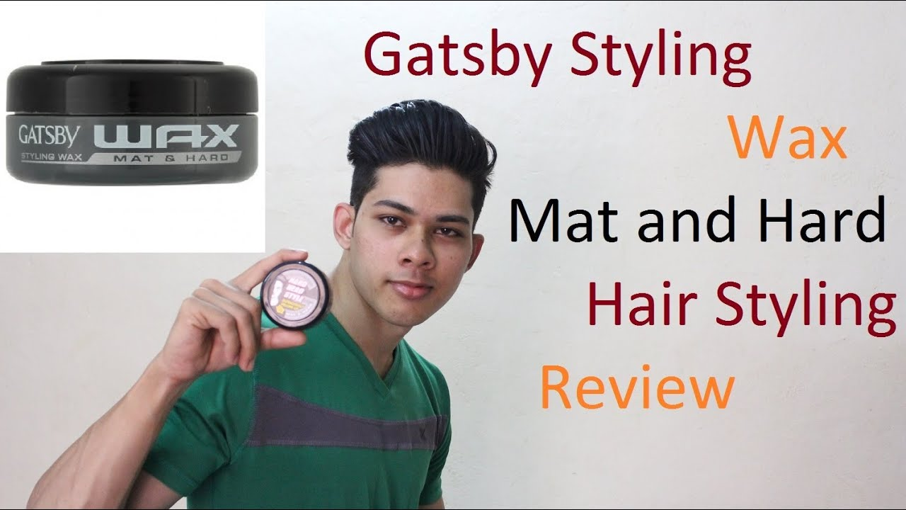 Styling Hair Wax Best Gatsby Styling Wax Mat And Hard Hair Style Review  Youtube