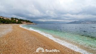beach Vreženica, Baška, island Krk, Croatia
