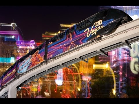 The Las Vegas Night Time Monorail ride in full HD