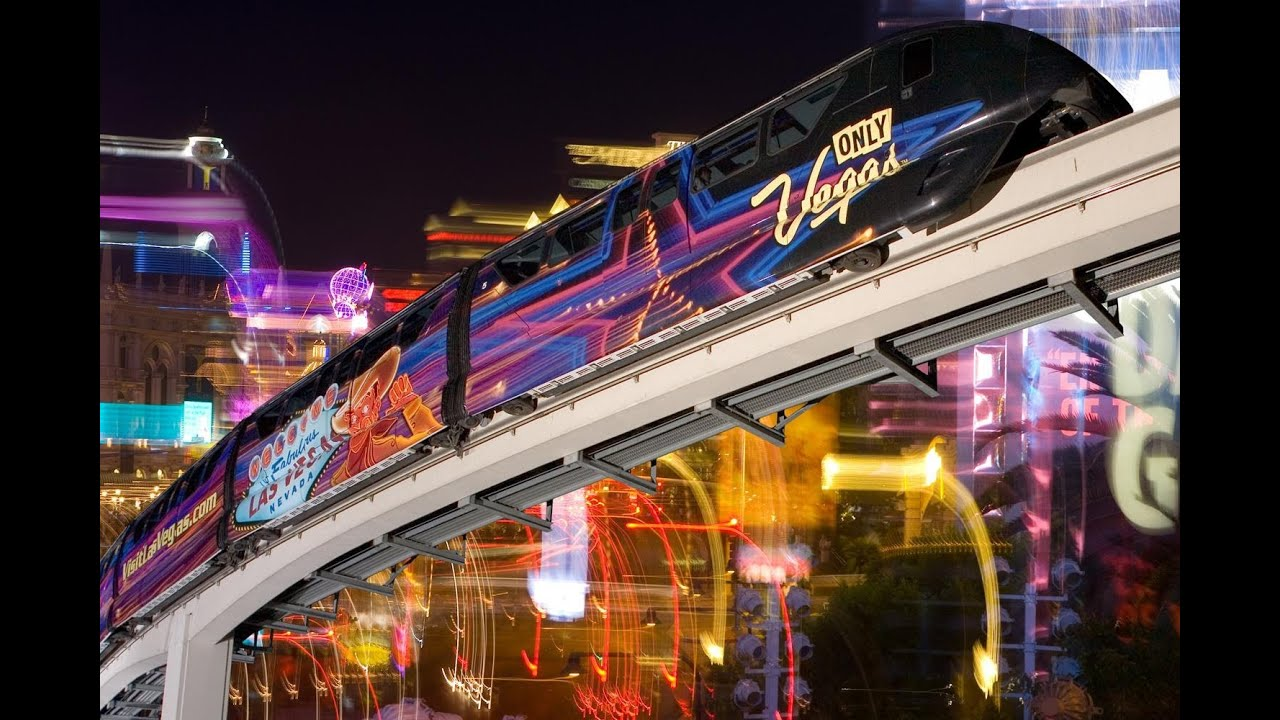 the las vegas night time monorail ride in full hd youtube. Black Bedroom Furniture Sets. Home Design Ideas