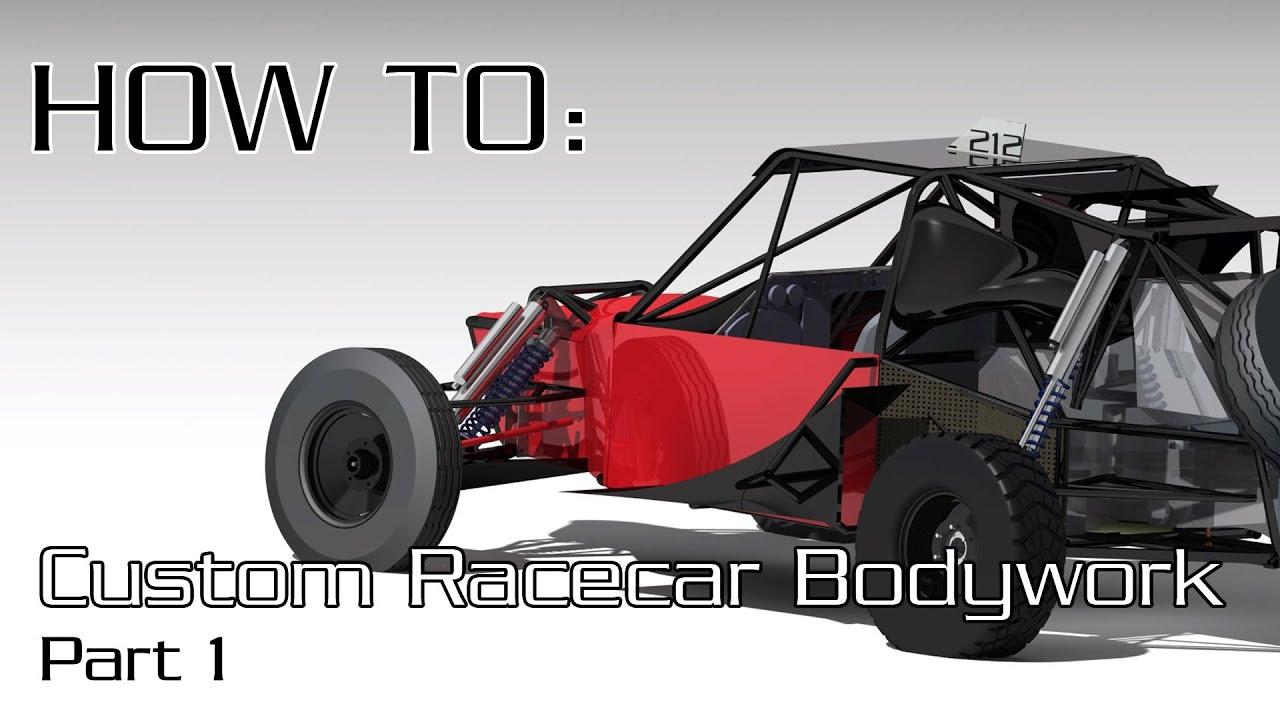 How to Make Fibreglass Carbon Fibre Race Car Bodywork Part 1 2