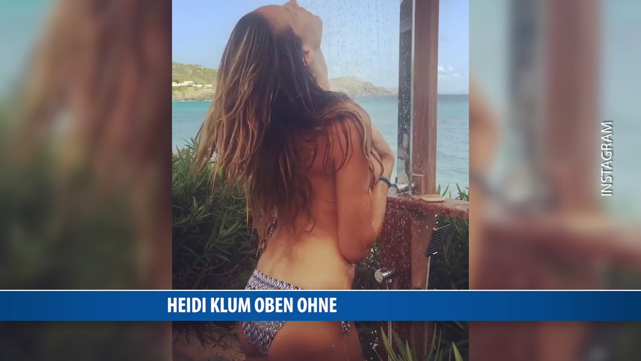 Heidi Klum oben ohne