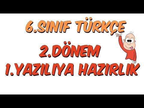 6.Sınıf Türkçe 2.Dönem 1.Yazılıya Hazırlık