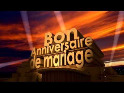 bon anniversaire de mariage youtube. Black Bedroom Furniture Sets. Home Design Ideas