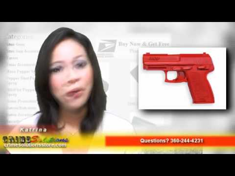 ASP Patended Solid Silicone Made Red Training Gun H&K .45 Comp, Lightweight Replica Review