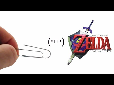 ZELDA using sounds from a paperclip - Gerudo Valley