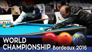 3-Cushion World Championship Bordeaux 2016 - Daniel Sanchez vs Kim Haeng-Jik