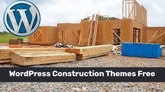 WordPress Construction Themes Free for construction company website building