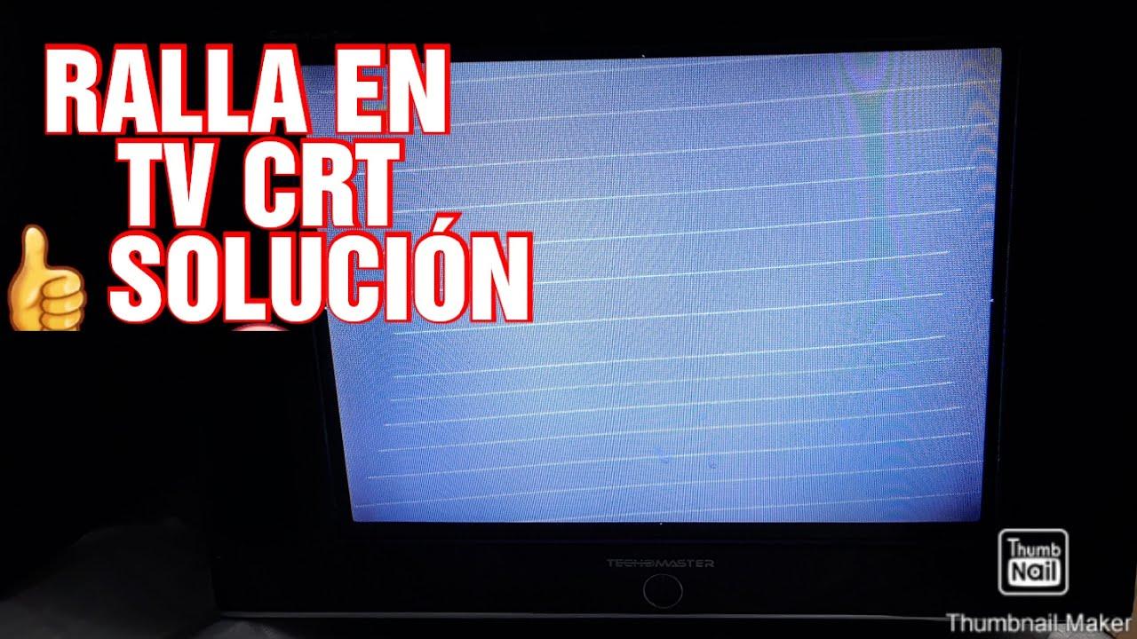REPARACION DE TV CRT CON RALLA HORISONTALES EN LA PANTALLA SOLUCION