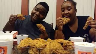 Popeyes Spicy and Mild Chicken Mukbang