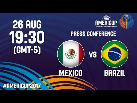 Mexico v Brazil - Press Conference - FIBA AmeriCup 2017