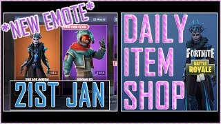 Fortnite Daily Item Shop (21st Jan) GROWLER Featured Skin & NEW IDK Emote - Battle Royale
