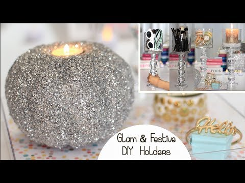 Holiday DIY Decor | Chic Holder | Glitter Pumpkin Candle | Collab W/ Msbtrendy & Allnatural28