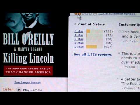Bill O'Reilly Killing Lincoln Audio Book panned by critics as well