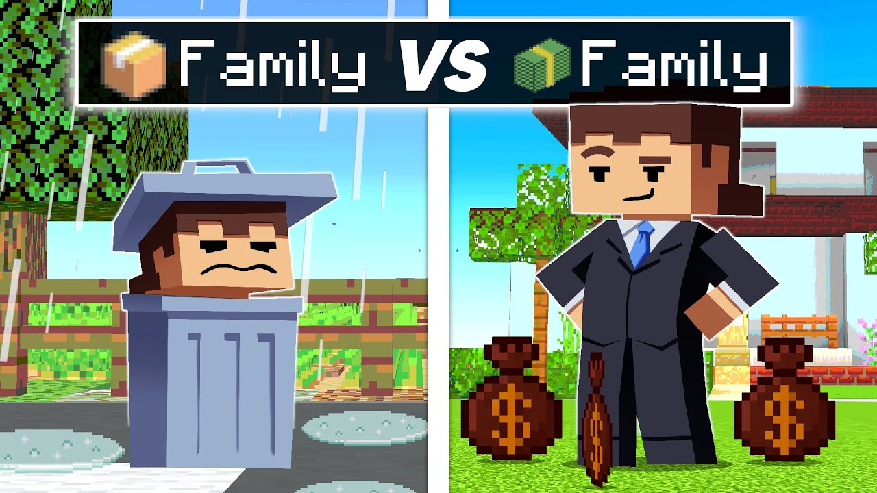 Download POOR FAMILY VS RICH FAMILY In Minecraft!