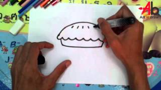 How To Draw Pie step by step easy