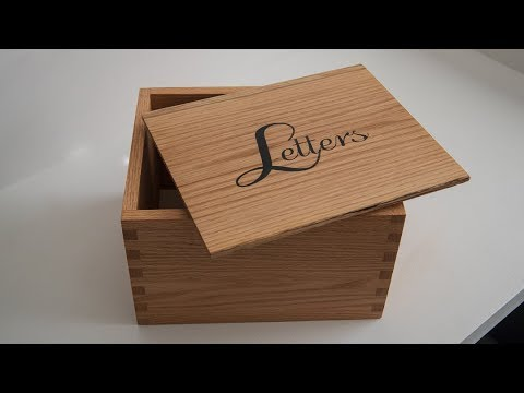Finger Jointed Box with Epoxy Inlay