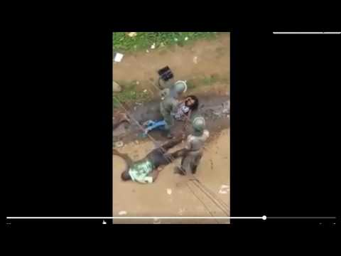 Police beating woman badly in Cameroon- unrest!!! rare footage thumbnail