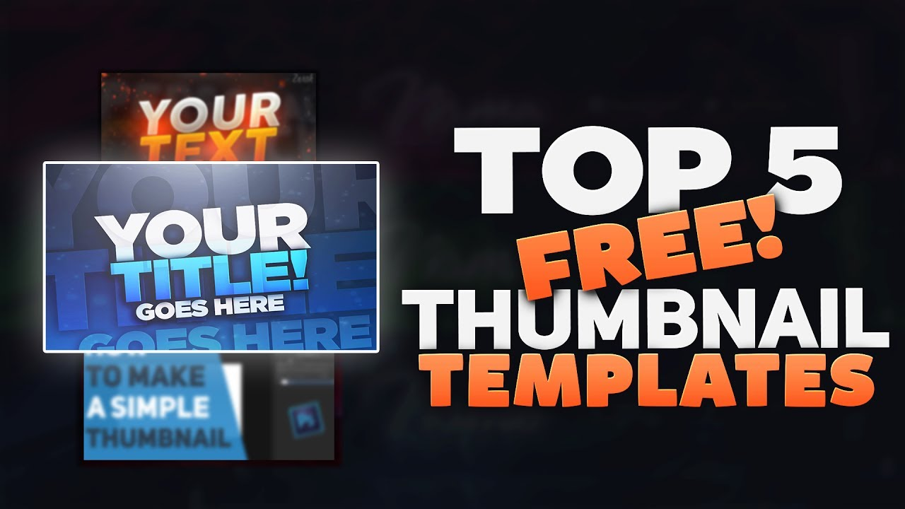 top 5 free youtube thumbnail template photoshop downloads youtube
