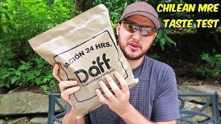 Tasting Chilean MRE (Meal Ready to Eat) thumbnail