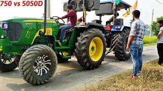 Sonalika 750 sikandar vs Johndeere 5050D tractor tochan