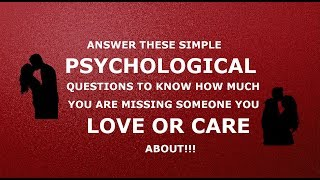 psychological love test