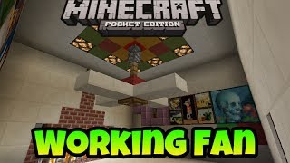 How to make Working Fan in Minecraft PE
