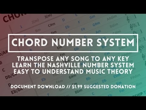 The Chord Number System - learn how to transpose anything (Nashville number system)