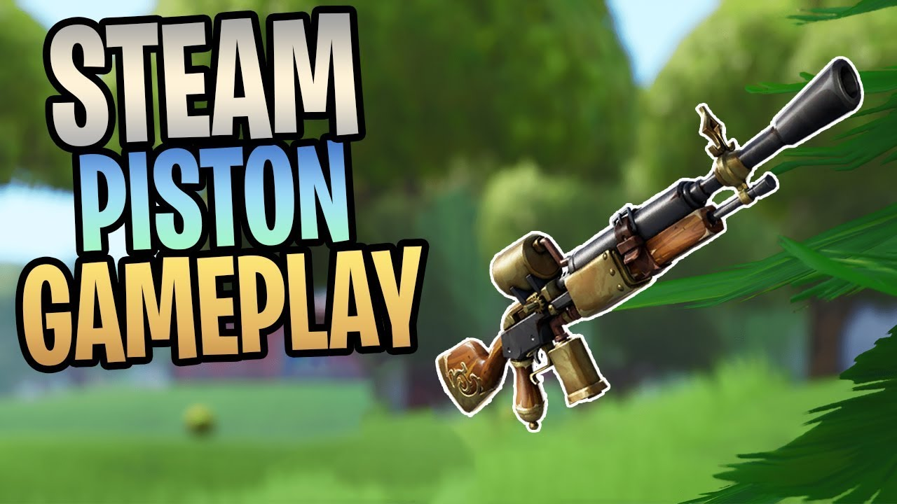 FORTNITE - New STEAM PISTON Steampunk Assault Rifle Save The World Gameplay