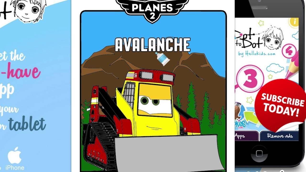 How To Color Avalanche Coloring Book Disney Planes Coloring Pages