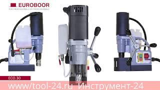 Магнитный станок Euroboor ECO 30   видео обзор, сверление металла