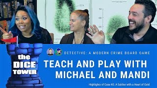 *SPOILERS!* Detective: A Modern Crime Board Game - Teach & Play with Michael and Mandi