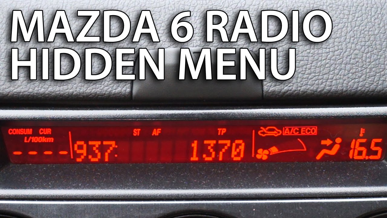 Mazda Radio hidden menu sound system diagnostic service