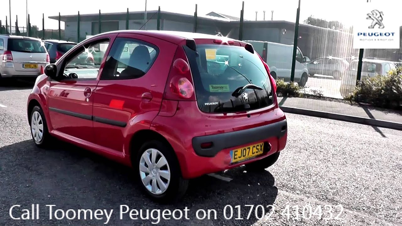 2007 peugeot 107 urban 1l laser red ej07csx at toomeys peugeot