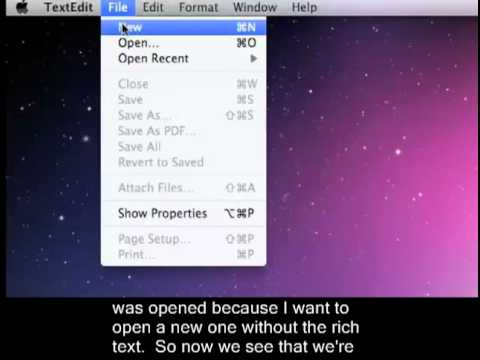 Using TextEdit (Mac) To Create HTML Files