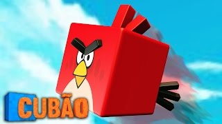 Minecraft : CUBÃO ANGRY BIRDS !! - Lucky Block PVP
