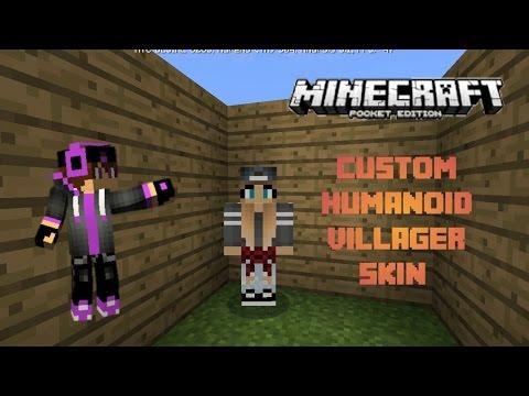 MCPE Custom Humanoid Villagers (Add-on) Skins!!!