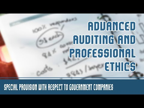 Audit and Auditor | Special Provision with respect to Govern