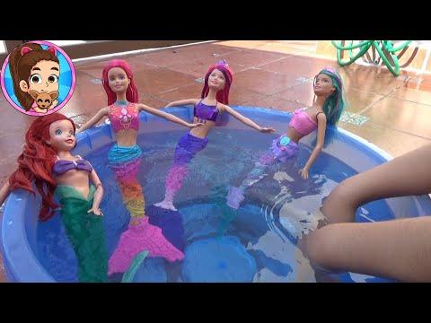 Barbie Sirena   Mermaid Fantasy   Pool Party   Fiesta De Piscina   Review