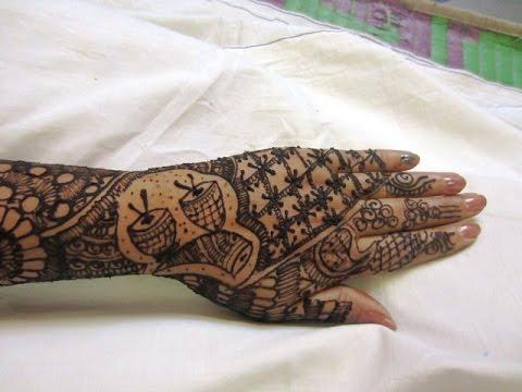 Mehndi Bridal Back Side : Hands back side full mehndi design s youtube