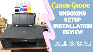 Canon G1000 Colour Printer Setup Unboxing Review Installing etc All Part Together