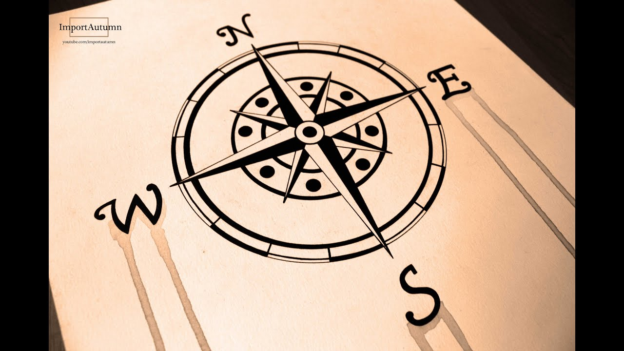 drawing a compass  naval  nautical  maritime compass  ink free compass vector download free compass vector art