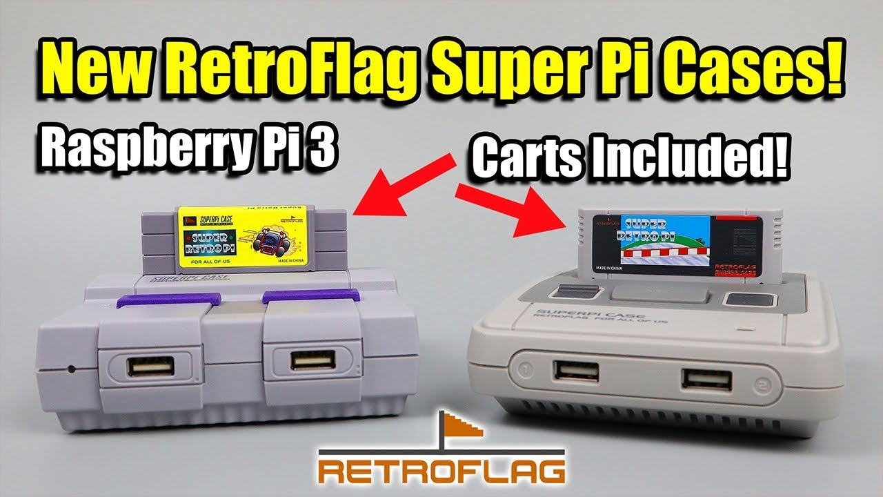 New RetroFlag SuperPi Case with Cart! Raspberry Pi 2 3 3b+